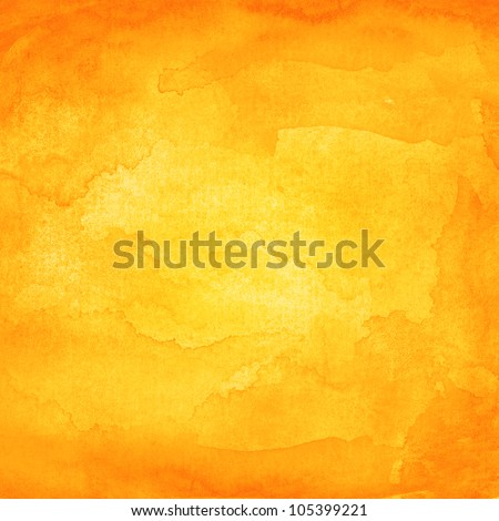 orange abstract watercolor