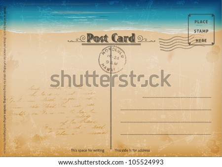 vintage summer postcard vector