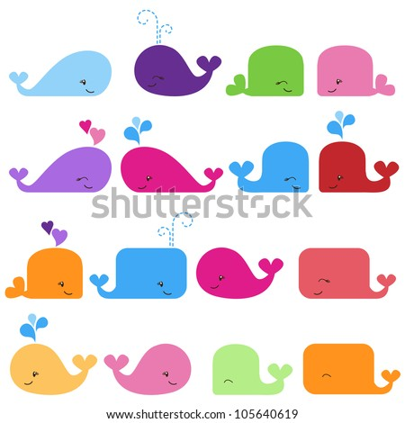 rainbow vector set of cute