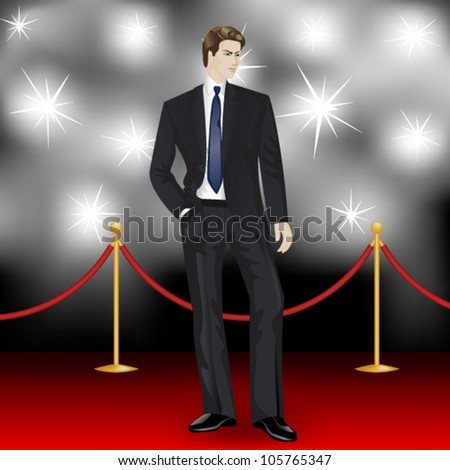 famous  elegant man in suit