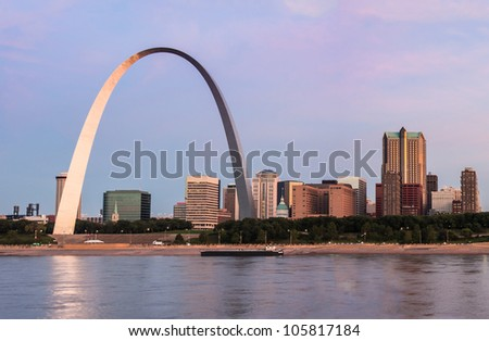 st louis and the arch from
