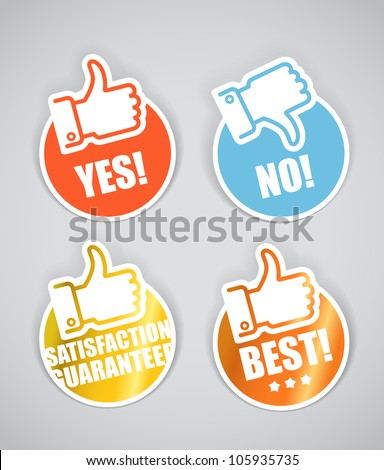 approval paper stickers