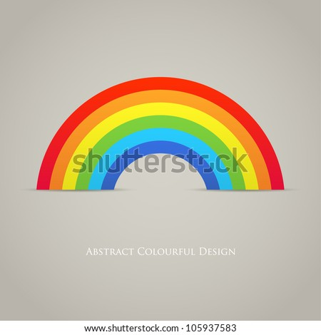 trendy rainbow creative icon