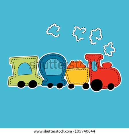 little train vector illustration