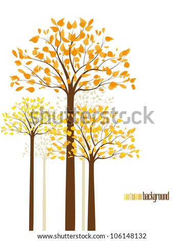 abstract background with autumn
