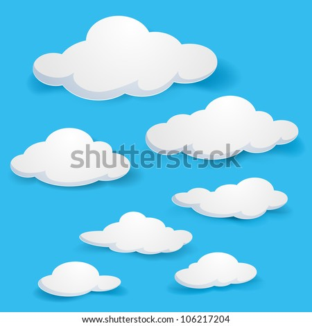 cartoon  clouds illustration