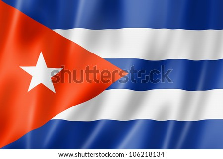 cuba flag  three dimensional