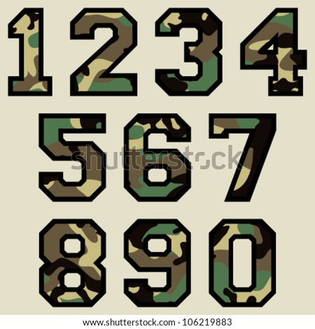 vector woodland camo numbers