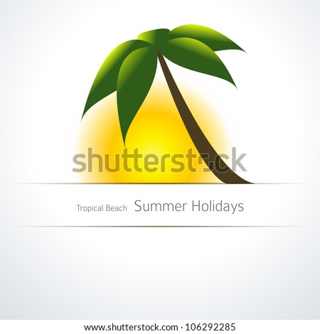 palm tree and sun tropical