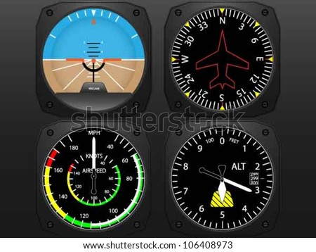 airplane flying instruments