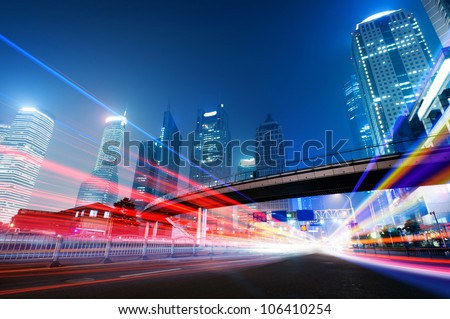 the light trails on the modern