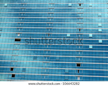 blue glass windows reflect