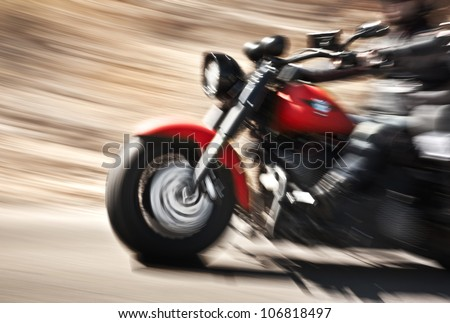 abstract slow motion  biker