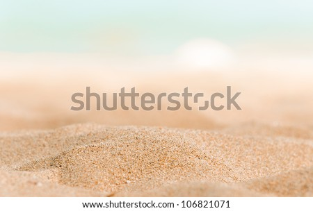 closeup of some sand on the