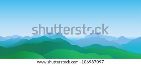 mountain scenery  abstract