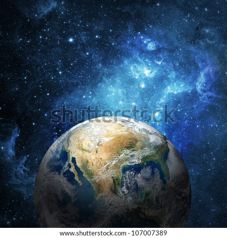 earth and galaxy  collage