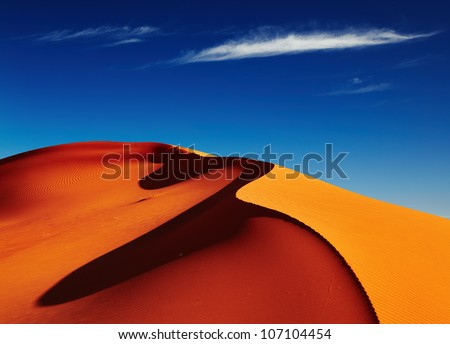 sand dune in sahara desert at