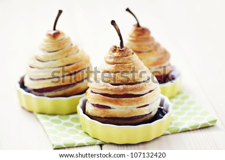 delicious pear in french pastry