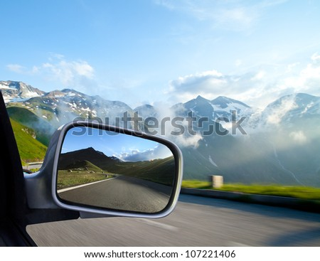 car mirror  concept of speed