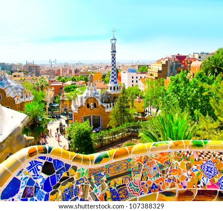 the famous park guell in