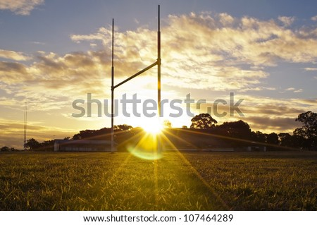 goal posts for football  rugby