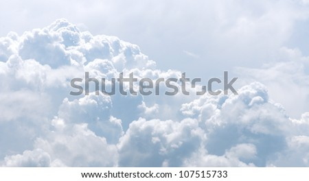 white and gray clouds in blue