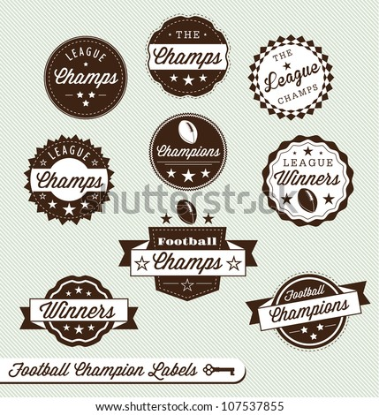 vector set  vintage football