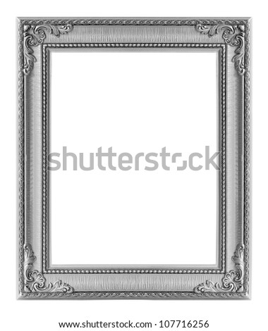 the antique gold frame on the