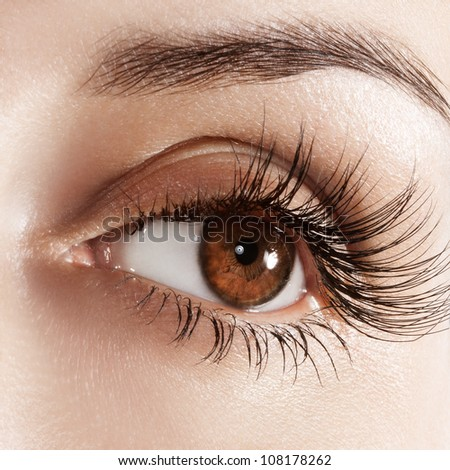woman eye with extremely long
