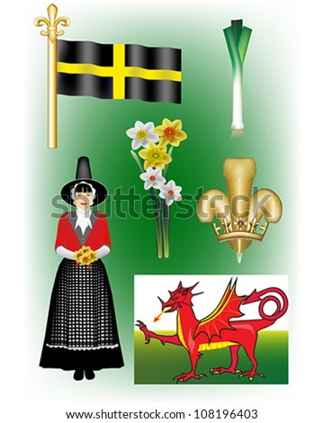 welsh vector illustrations   st