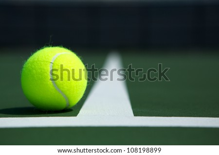 tennis ball on the court close