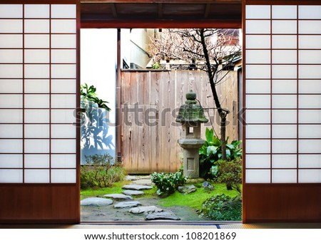 room with the garden view in a