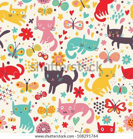 cute funny seamless pattern