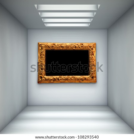 empty gallery with picture frame