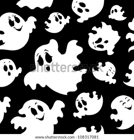 seamless background with ghosts