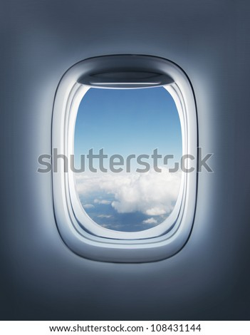 clouds in the aircraft's