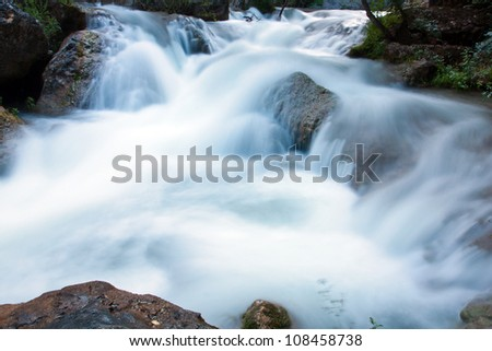 run of mountain stream water