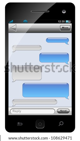 smartphone sms chat template