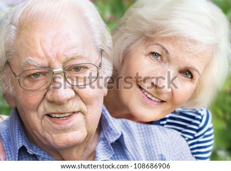 happy couple portrait  closeup