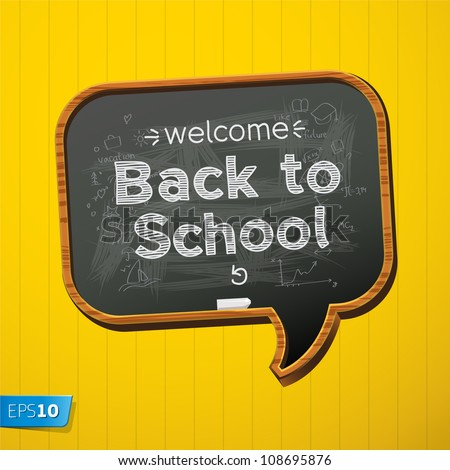 back to school  vector eps10