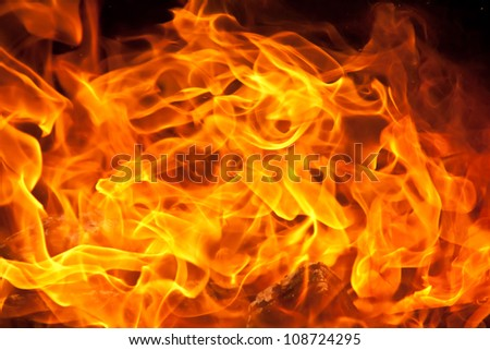 a background of flames