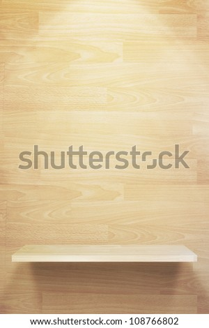 empty three wood shelf on wood