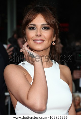 cheryl cole arriving for the uk
