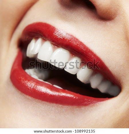 woman smile teeth whitening
