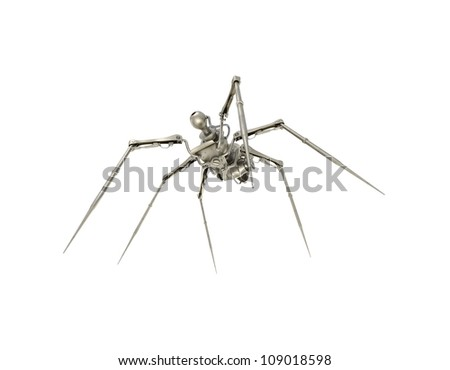 bottom view of cyber spider