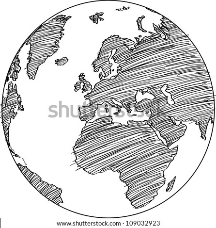 globe vector line illustrator