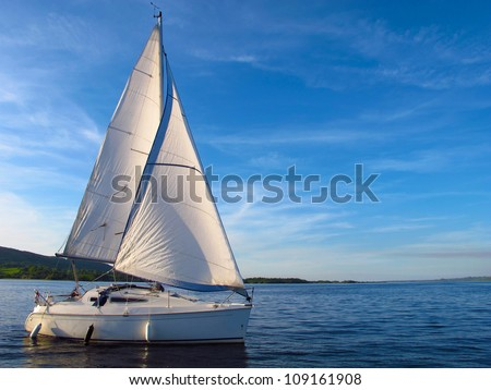 sail boat on lough derg