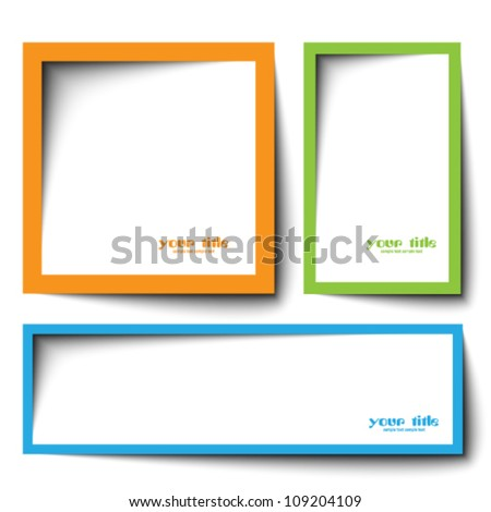 text box vector design