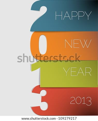 original vector new year 2013