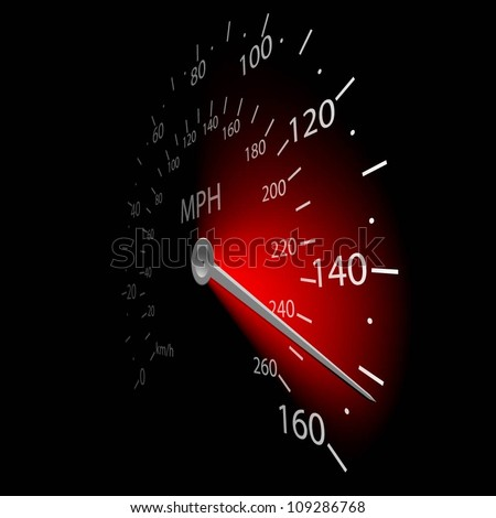 illustration of the speedometer